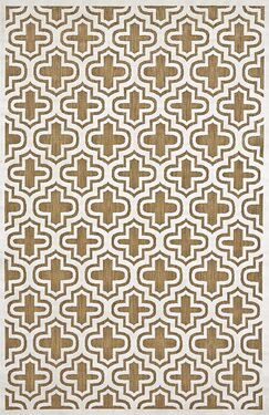 Saulsberry Tan/Ivory Indoor/Outdoor Area Rug Rug Size: Rectangle 2'1