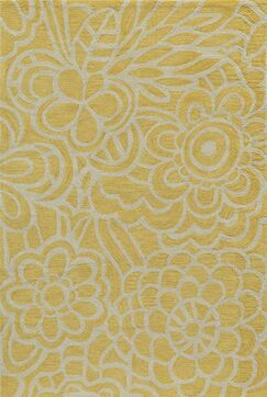 Rhea Hand-Tufted Yellow Area Rug Rug Size: Rectangle 7'9
