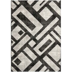 Shroyer Black / Gray Area Rug Rug Size: Rectangle 8' x 11'2