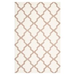 Charlenne Hand-Tufted Wool Ivory/Beige Area Rug Rug Size: Rectangle 4' x 6'