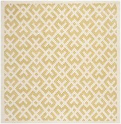 Wilkin Hand-Tufted Wool Light Gold Area Rug Rug Size: Square 7'
