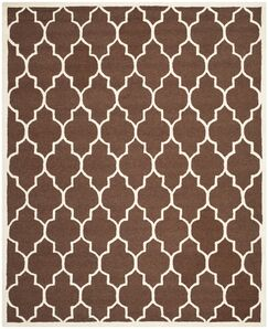Charlenne Dark Brown Area Rug Rug Size: Rectangle 9' x 12'
