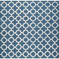 Martins Hand-Tufted Wool Blue Area Rug Rug Size: Square 8'