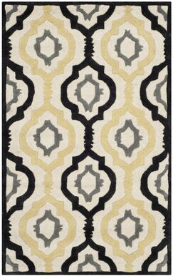 Wilkin Ivory / Multi Moroccan Rug Rug Size: Rectangle 3' x 5'