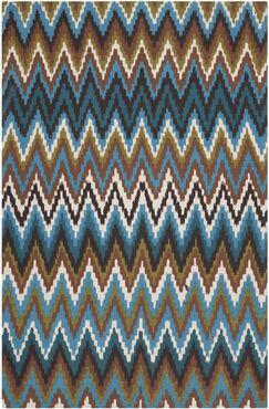 Sonny Green & Blue Area Rug Rug Size: Rectangle 4' x 6'