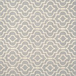 Martins Silver / Ivory Area Rug Rug Size: Square 6'