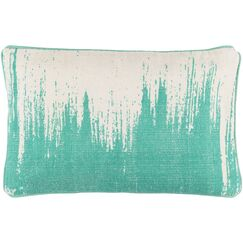 Lahey 100% Cotton Lumbar Pillow Cover Color: GreenNeutral
