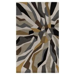 Conroy Bone Hand-Tufted Gray/Brown Area Rug Rug Size: Rectangle 9' x 13'