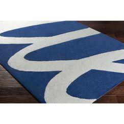 Nida Hand-Tufted Gray/Blue Area Rug Rug Size: Runner 2'6