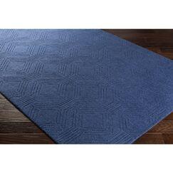 Belle Hand-Loomed Blue Area Rug Rug Size: Rectangle 8' x 10'