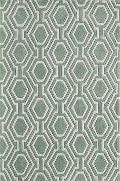 Wills Hand-Tufted Sage Area Rug Rug Size: Rectangle 3'6
