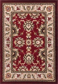 Harbert Traditional Red Area Rug Rug Size: 3'3