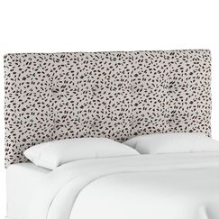 Grays Ferry Tufted Neo Leo Upholstered Panel Headboard Size: King