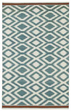 Marble Falls Geometric Turquoise Area Rug Rug Size: Rectangle 2' x 3'
