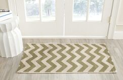 Jefferson Place Green/Beige Indoor/Outdoor Rug Rug Size: Rectangle 6'7