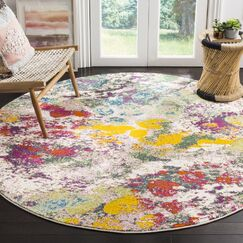 Shankle Green/Red Area Rug Rug Size: Square 6'7