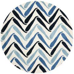 Chidi Ivory / Blue Rug Rug Size: Rectangle 3'6