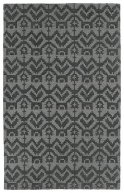 Hinton Charterhouse Hand-Tufted Gray Area Rug Rug Size: Rectangle 3'6