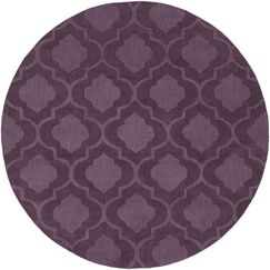 Castro Hand Woven Wool Purple Area Rug Rug Size: Round 7'9