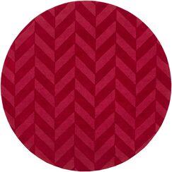 Sunburst Hand Woven Wool Red Area Rug Rug Size: Round 9'9