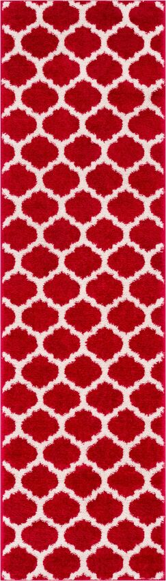 Rubino Red Area Rug Rug Size: 7'10