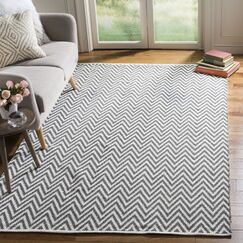 Whitton Hand-Woven Grey/Ivory Area Rug Rug Size: Runner 2'3