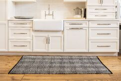 Criswell Hand-Woven Cotton Black/White Area Rug Rug Size: Rectangle 8' x 10'