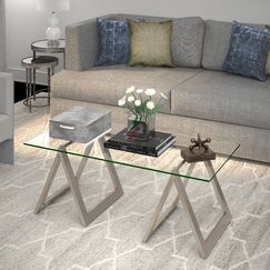Dancy Coffee Table Base Color: Nickel