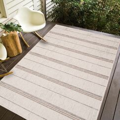 Stenberg Ivory/Sand Indoor/Outdoor Area Rug Rug Size: Rectangle 8'3 x 10'