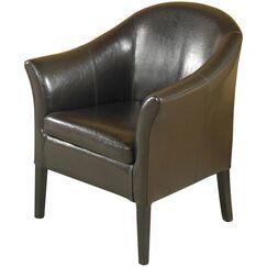 Deontaye Barrel Chair Upholstery: Brown