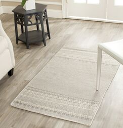 Butters Hand-Woven Grey/Ivory Area Rug Rug Size: Rectangle 2' x 3'