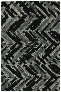 Louane Hand-Tufted Black/Gray Area Rug Rug Size: Rectangle 8' x 10'