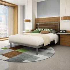Brophy Platform Bed Color: Glossy Grey, Size: Full
