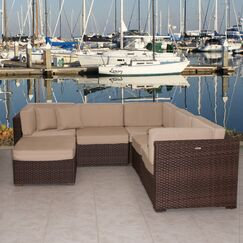 Lorentzen 6 Piece Sunbrella Sectional Set with Cushions