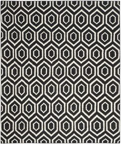 Crawford Hand-Woven Wool Black/Ivory Area Rug Rug Size: Rectangle 2'6
