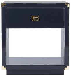Jove End Table Color: Navy lacquer