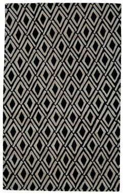 Pressley Gray/Black Area Rug Rug Size: Rectangle 8' x 11'