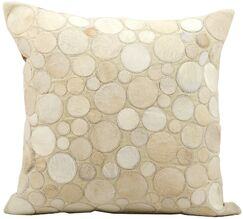 Leather Throw Pillow Color: Ivory