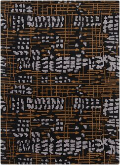 Pender Black Abstract Rug Rug Size: 9' x 13'