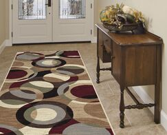 Hartle Brown Area Rug Rug Size: 2'7'' x 7'3''
