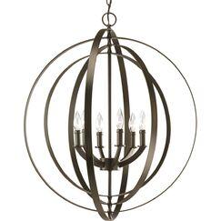 Morganti 6-Light Globe Chandelier Finish: Antique Bronze