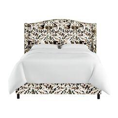 Elisamarie Wingback Linen Upholstered Panel Bed Size: California King