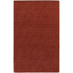Barrientos Hand-made Red Area Rug Rug Size: Rectangle 6' x 9'