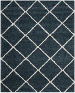 Humberto Shag Blue/Beige Area Rug Rug Size: Rectangle 8' x 10'