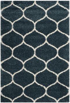Humberto Shag Blue/Beige Area Rug Rug Size: Rectangle 5'1
