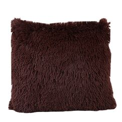 Del Rey Oaks Cotton Blend Pillow Cover Color: Brown, Upholstery: Without Insert