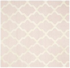 Kauffman Light Pink/Ivory Area Rug Rug Size: Square 6'