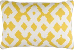Belford Large Zig Zag Square Linen Throw Pillow Size: 18