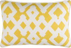 Belford Linen Lumbar Pillow Color: Sunflower/Ivory