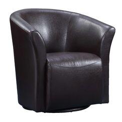 Elisha Swivel Barrel Chair Upholstery: Brown